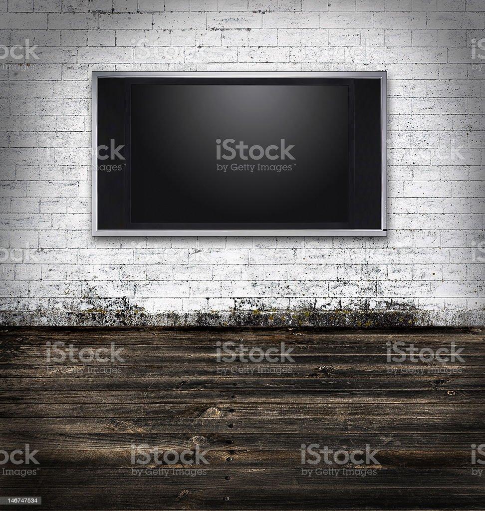 Flat screen television stock photo