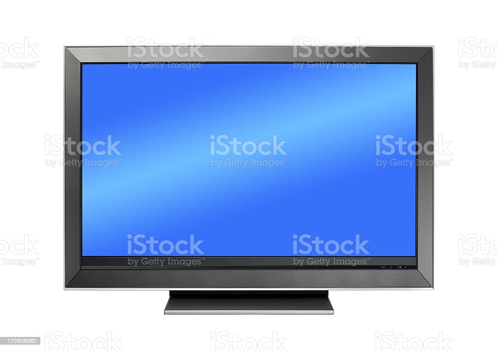 Flat screen Tv Isolated  with 2 clipping paths royalty-free stock photo