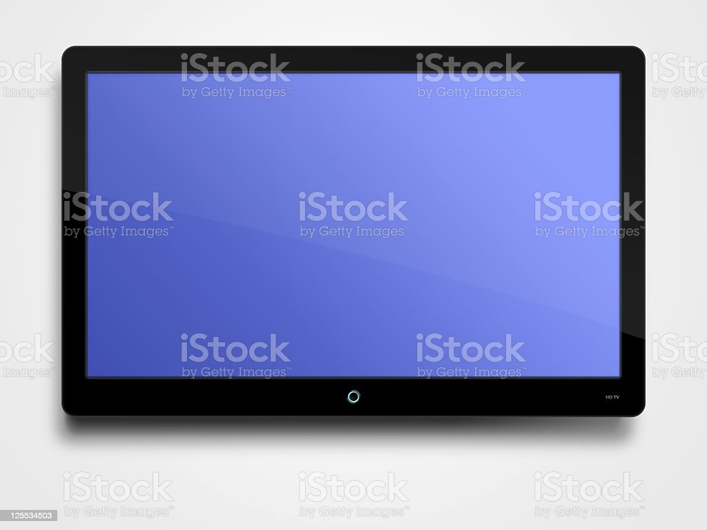 Flat screen TV with clipping path stock photo