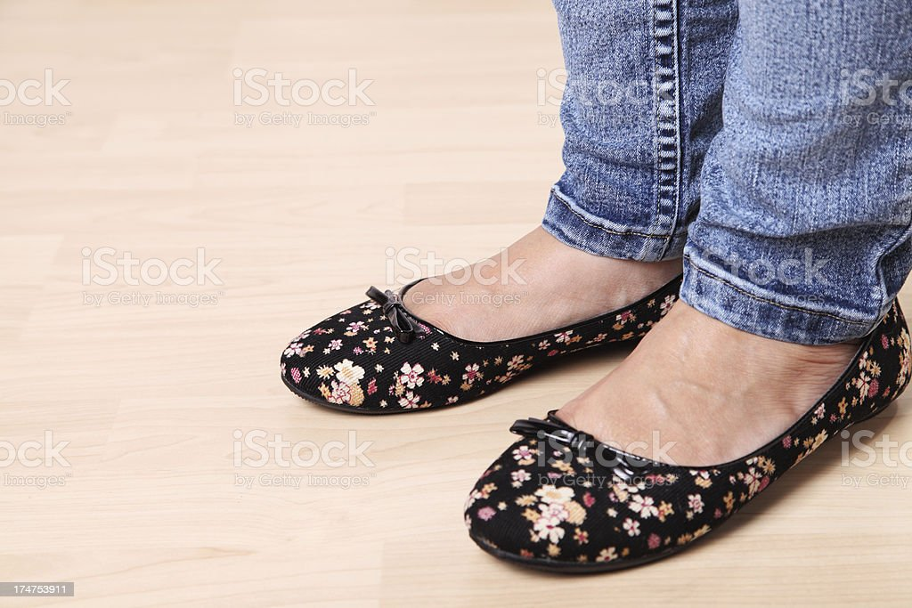 Flat Shoes royalty-free stock photo