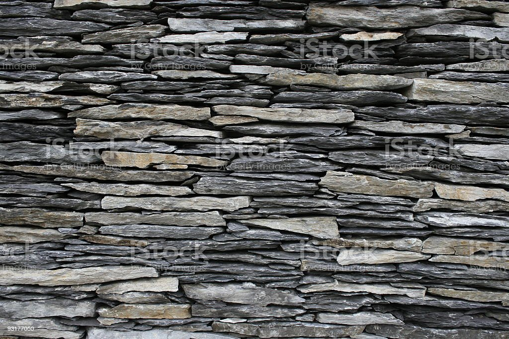 flat stone irish wall royalty-free stock photo