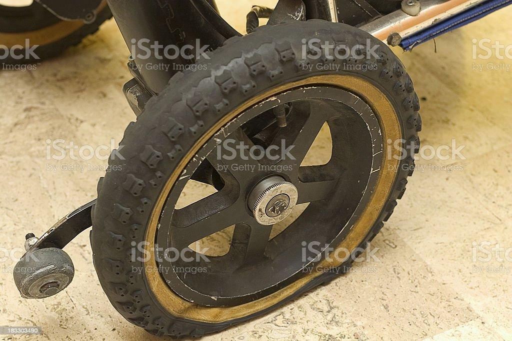 flat tire royalty-free stock photo