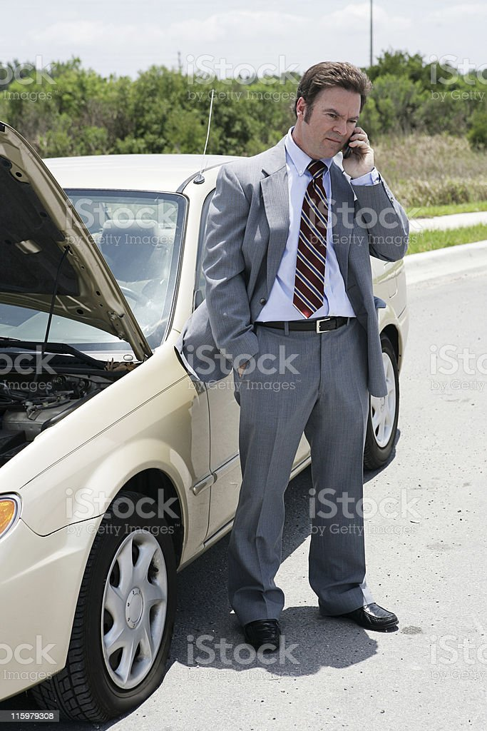 Flat Tire - Running Late royalty-free stock photo