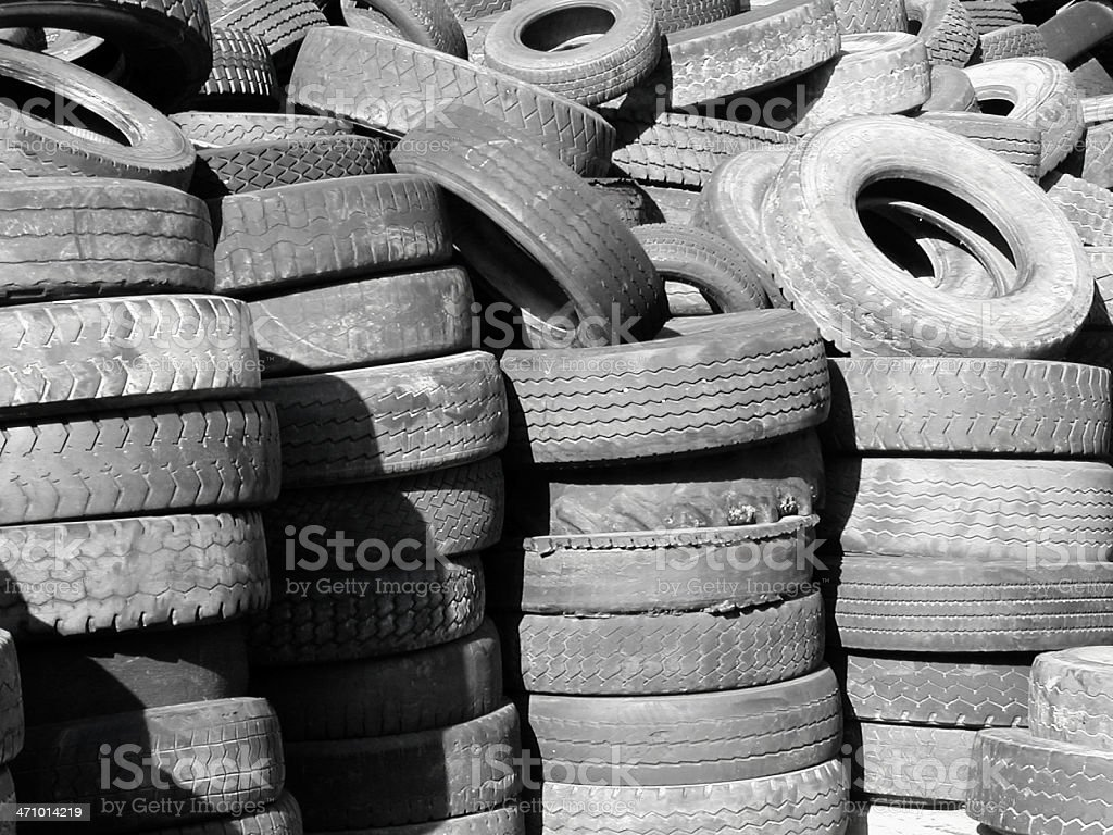 Flat Tires royalty-free stock photo