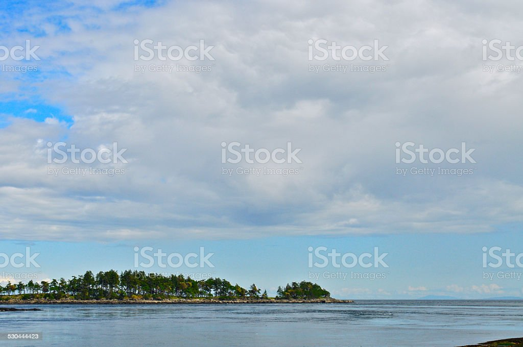 Flat Top Islands and big blue sky stock photo