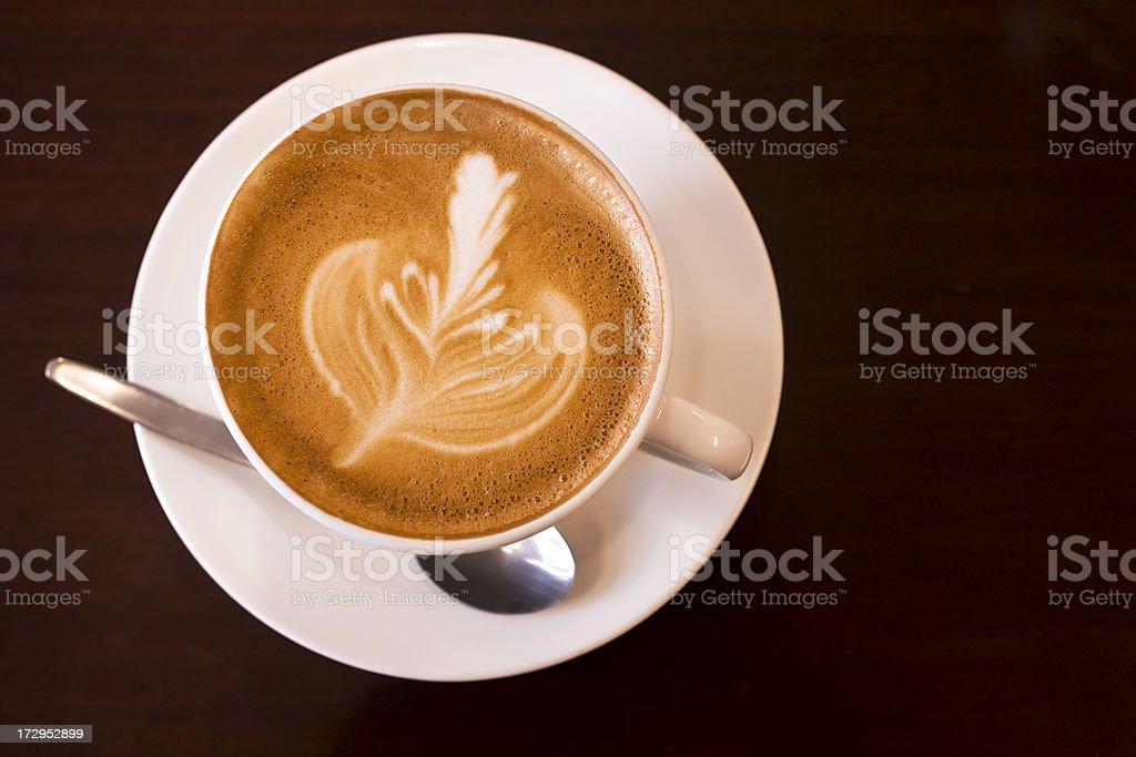 Flat white coffee stock photo