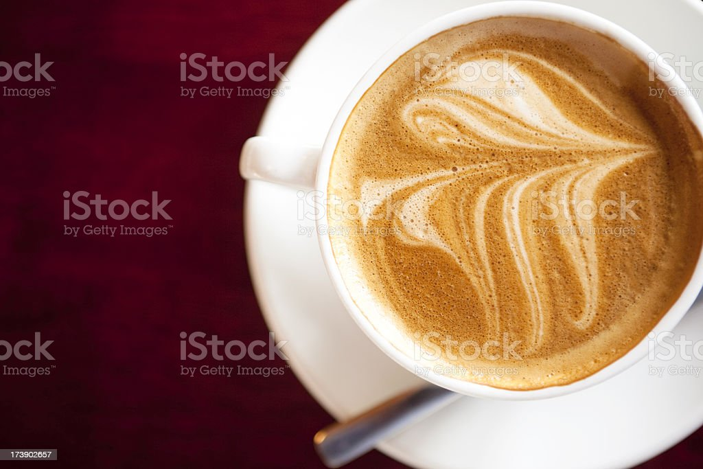 Flat white coffee royalty-free stock photo