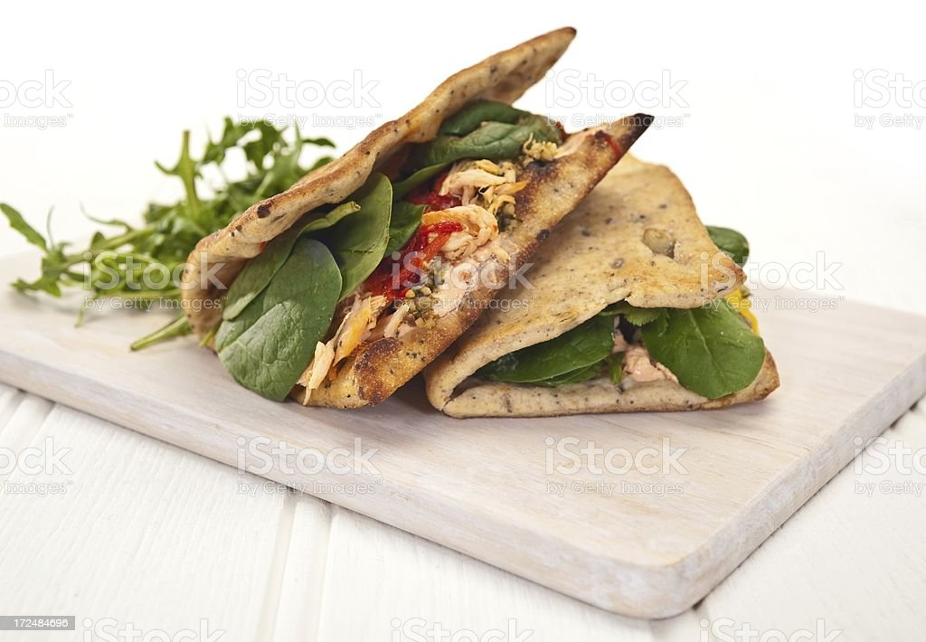 Flatbread Sandwiches royalty-free stock photo