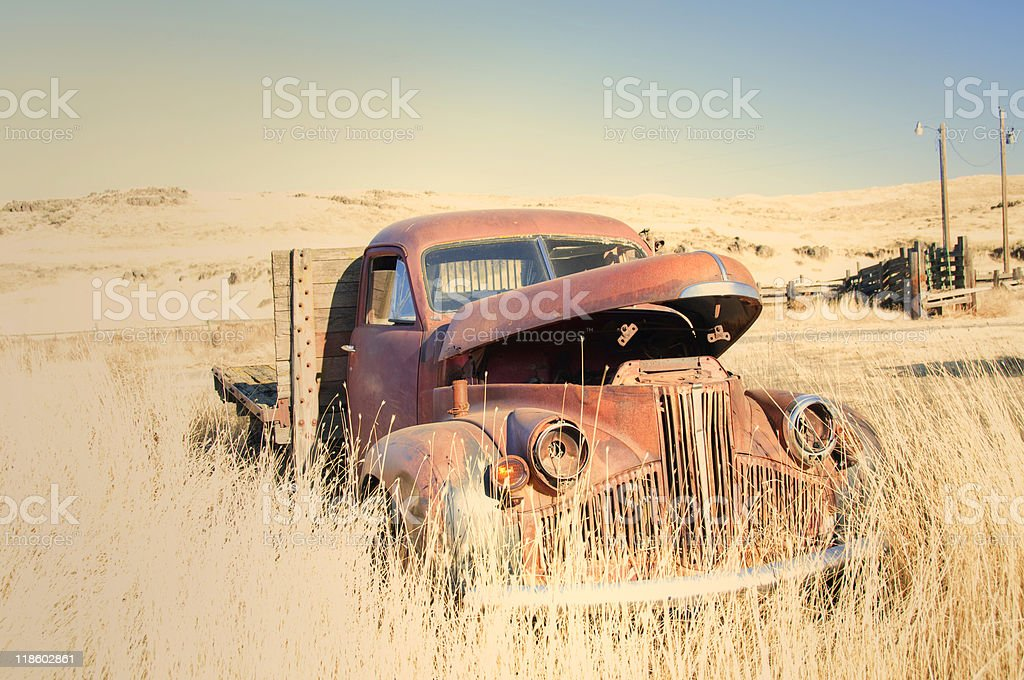 Flatdeck Studebaker truck stock photo