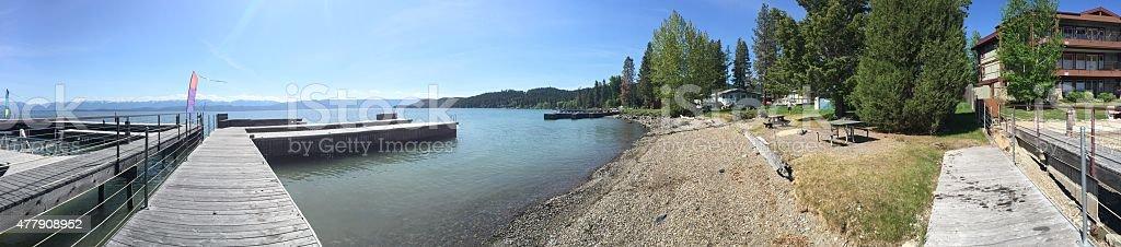 Flathead Lake in Montana stock photo