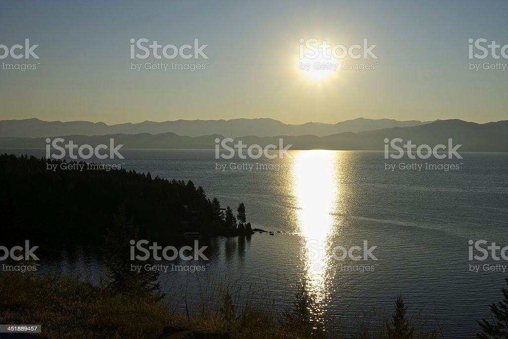 Flathead Lake Light stock photo