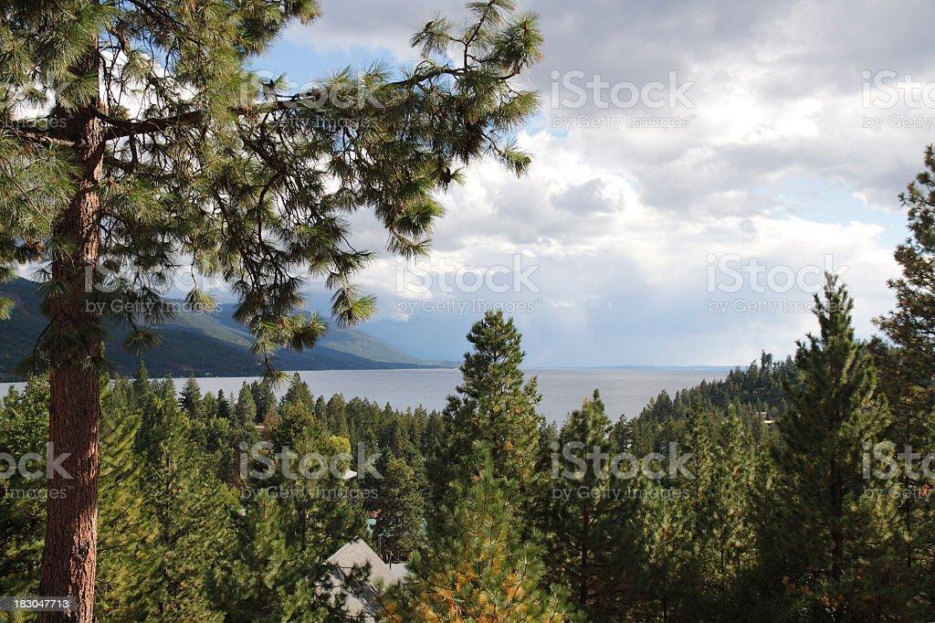 Flathead Lake Montana In Summer stock photo