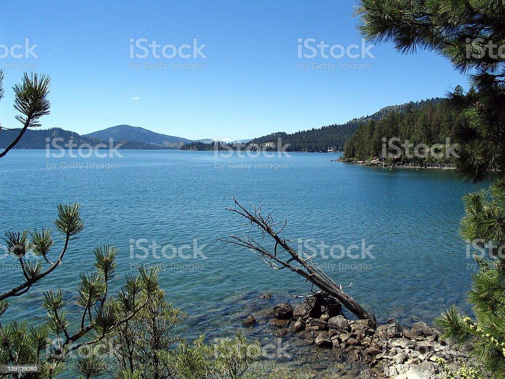 Flathead Lake Montana royalty-free stock photo