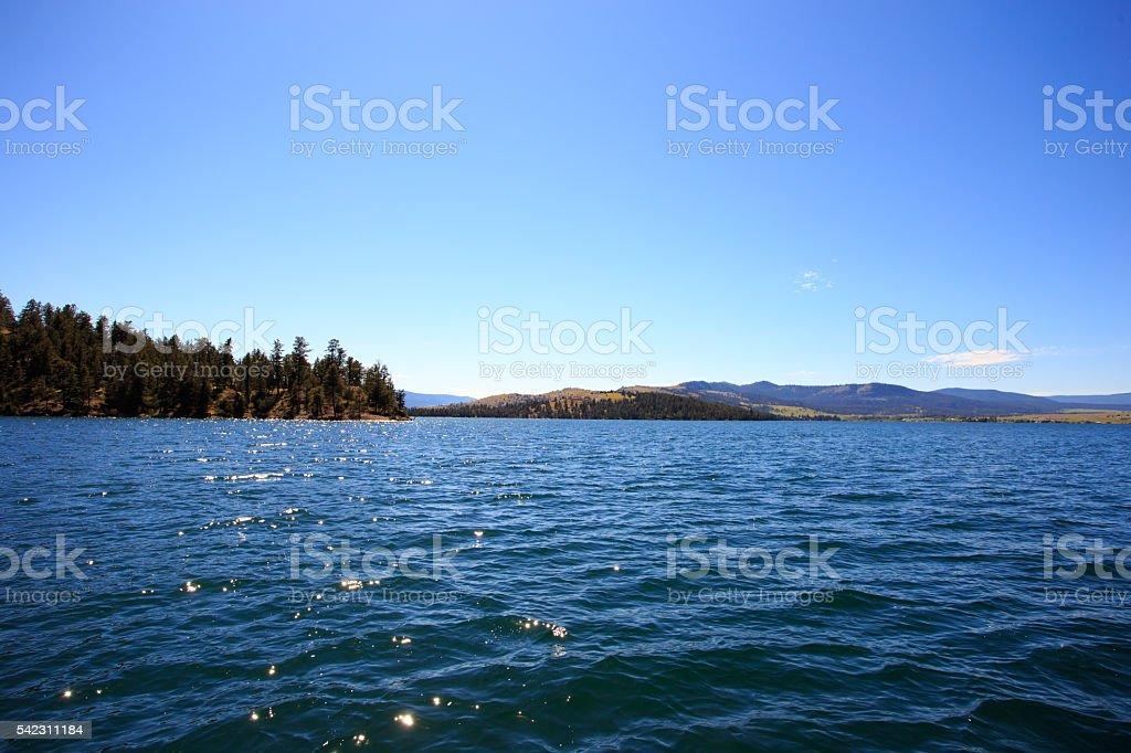 Flathead Lake, Montana stock photo