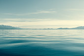 Flathead Lake Montana With Mission Mountains On Horizon