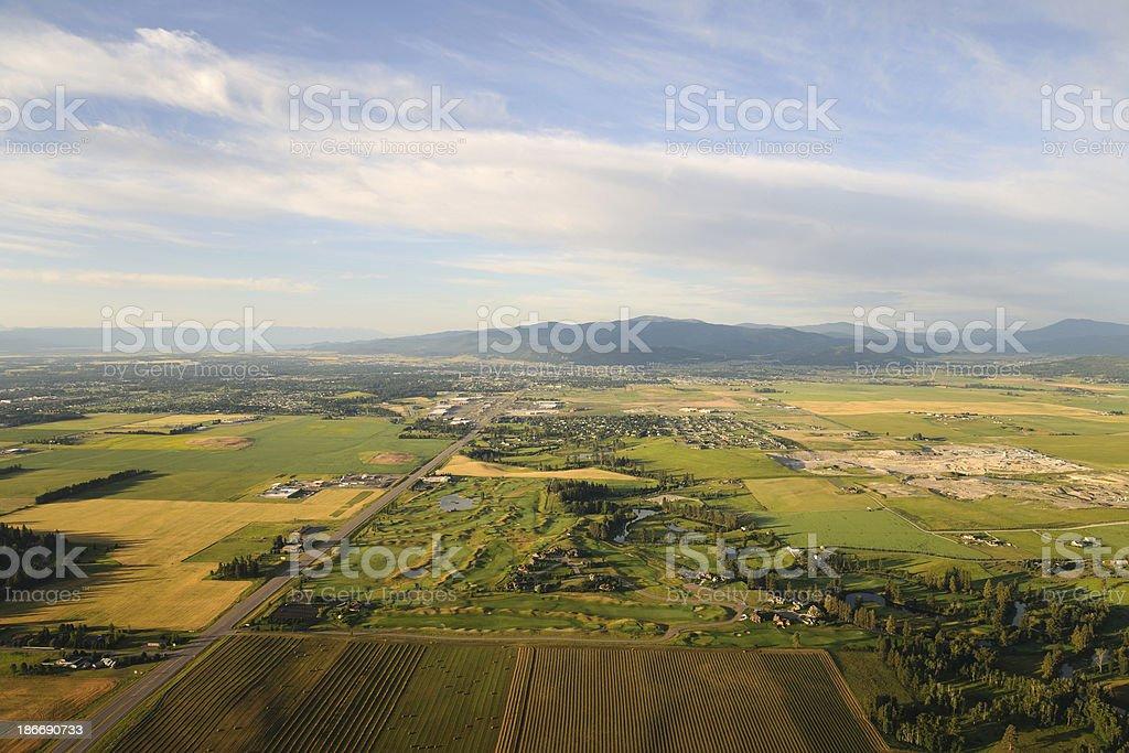 Flathead Valley, Montana stock photo