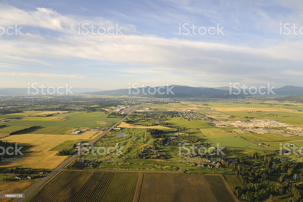 Flathead Valley, Montana stock photo