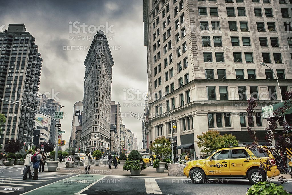Flatiron Building and Fifth Avenue, New York stock photo