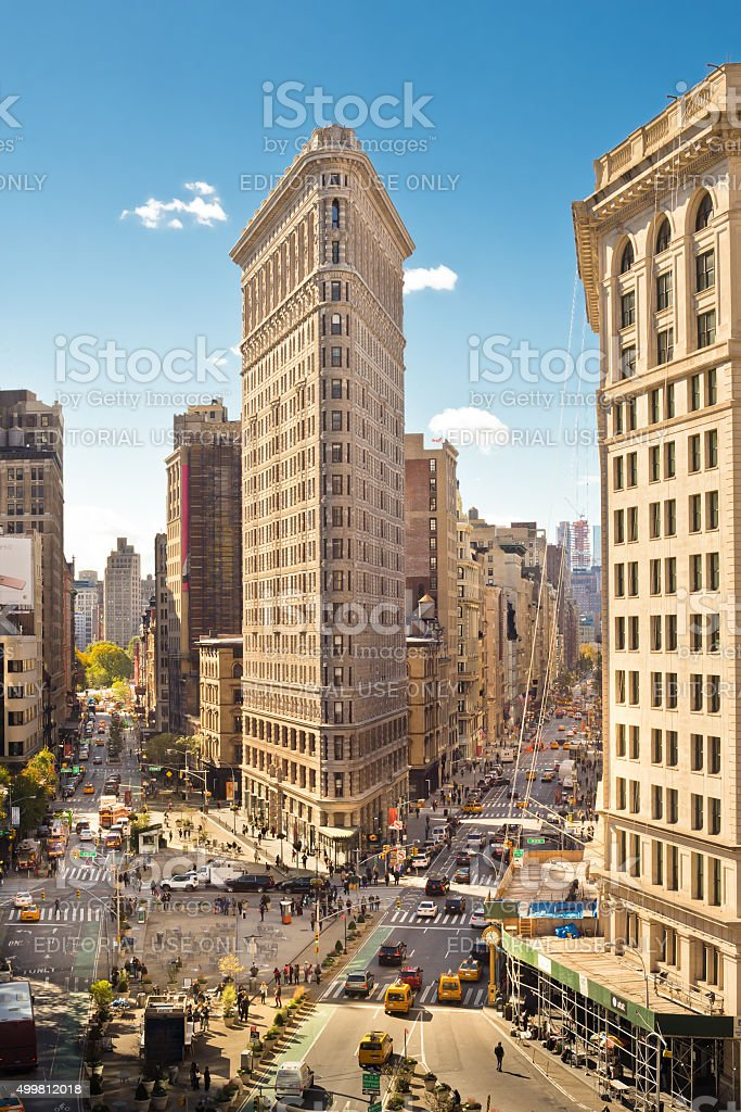 Flatiron Building District NYC stock photo