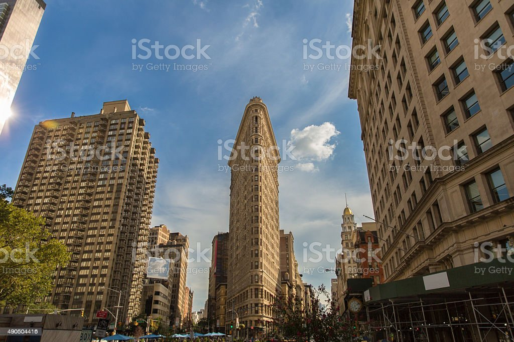 Flatiron building in Midtown New York stock photo