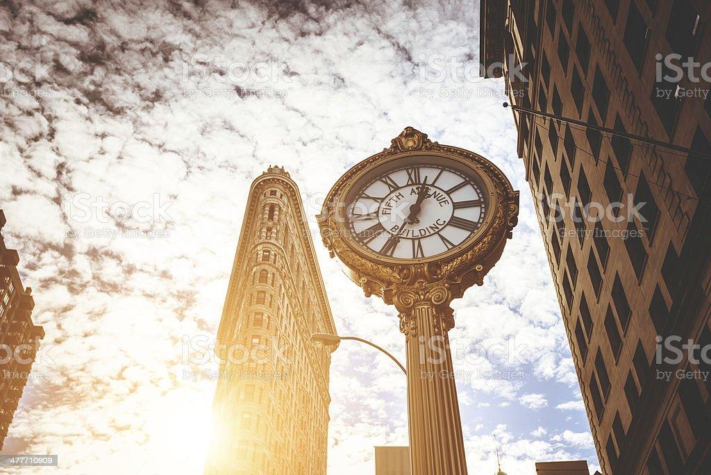 Flatiron building in new york city royalty-free stock photo