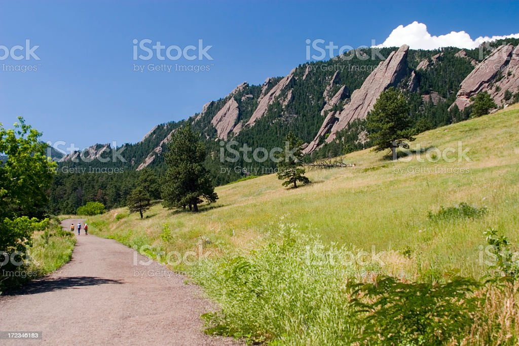 Flatiron Hikers royalty-free stock photo