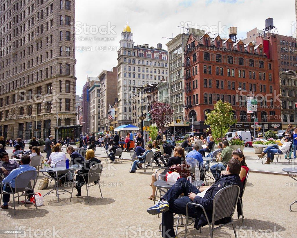 Flatiron Pedestrian Plaza royalty-free stock photo