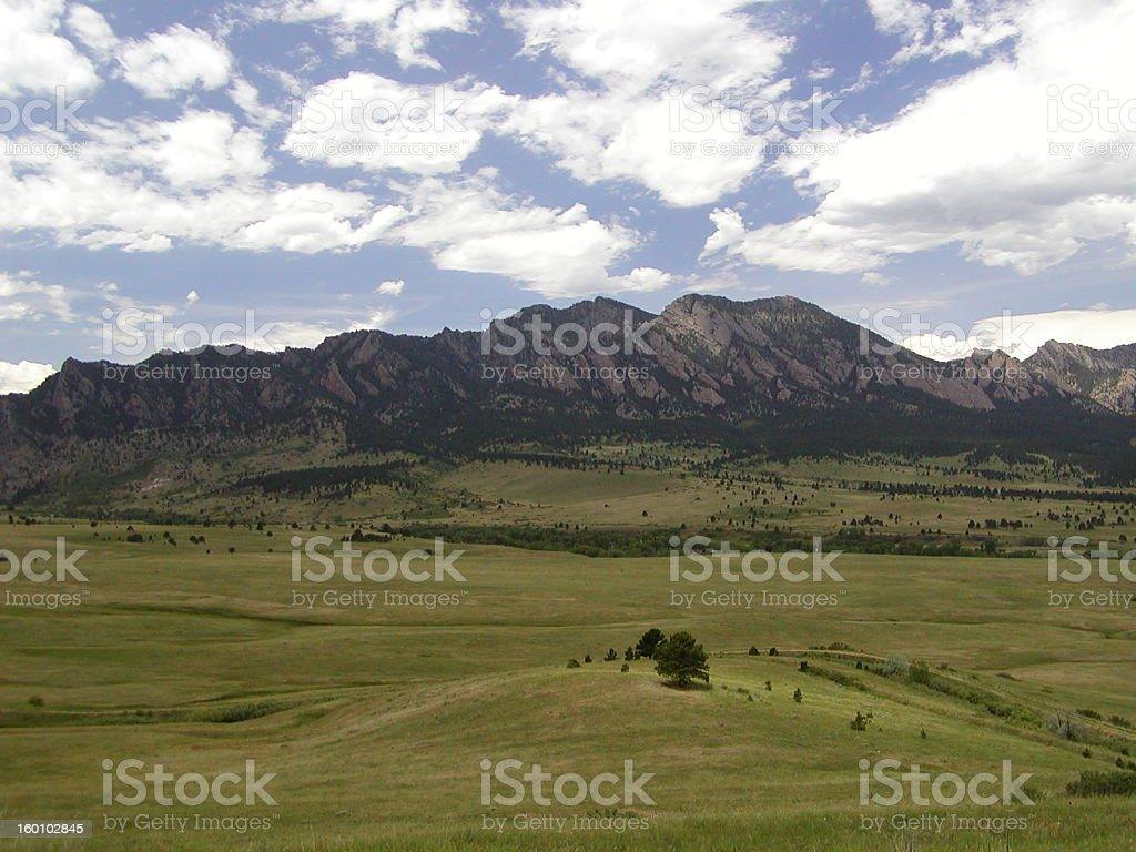 Flatirons Boulder 2 royalty-free stock photo