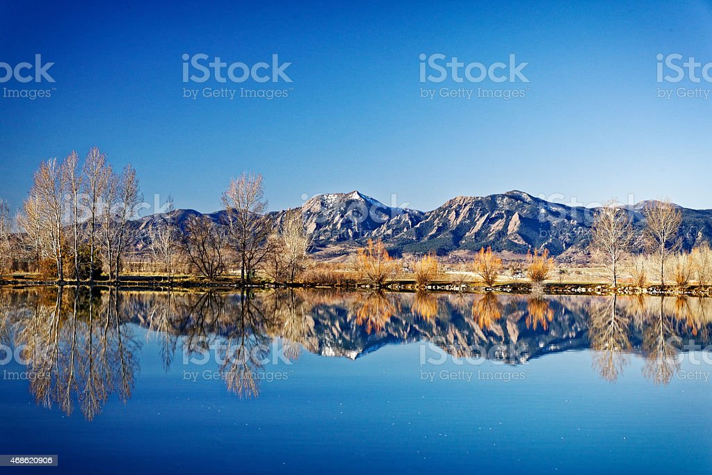 Flatirons Boulder stock photo