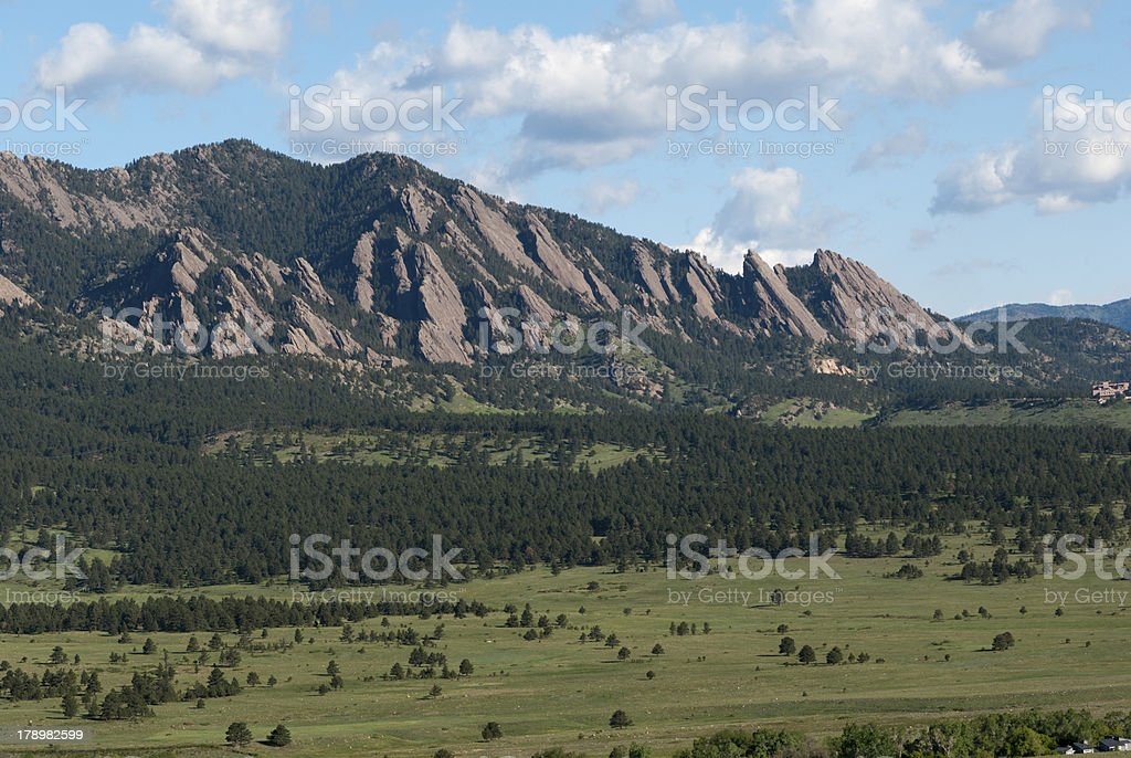 Flatirons in Boulder Colorado royalty-free stock photo