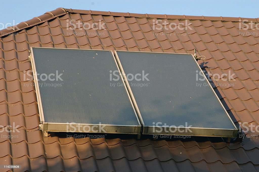 Flat-plate solar collector royalty-free stock photo