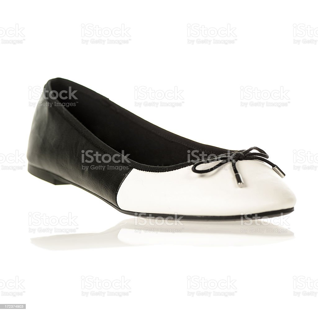 Flats in black and white colors royalty-free stock photo