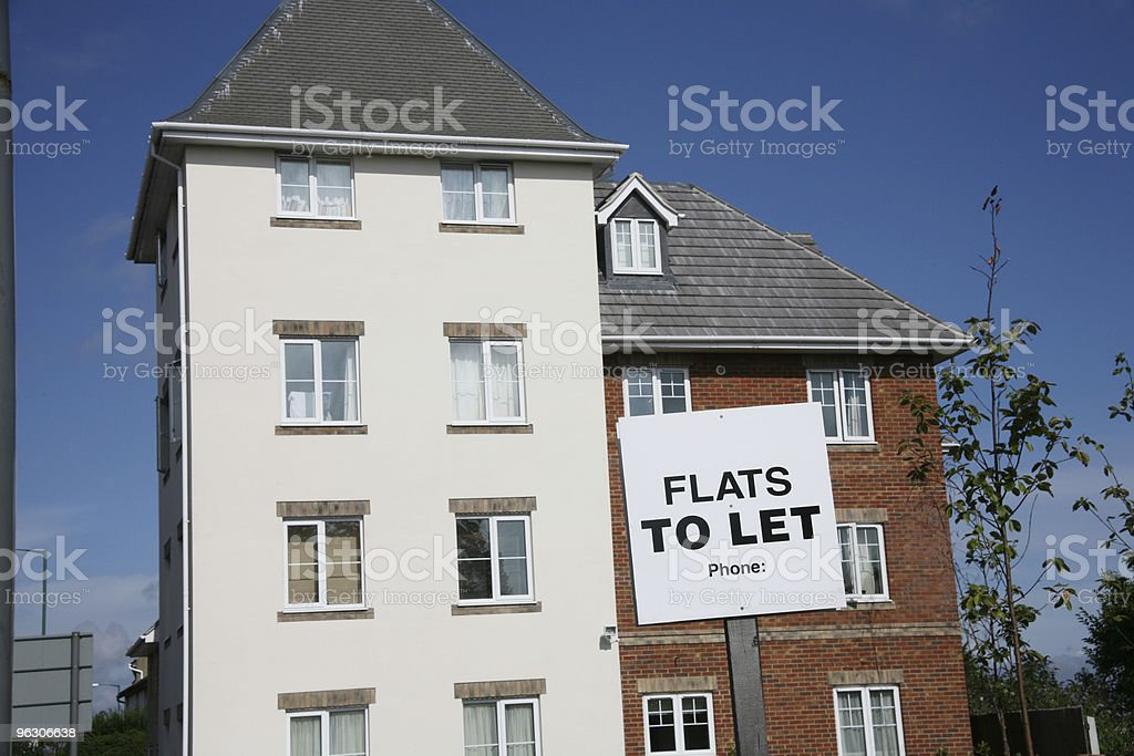 Flats To Let horizontal royalty-free stock photo
