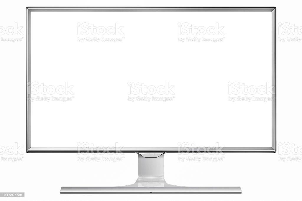 Flatscreen TV 4 K stock photo
