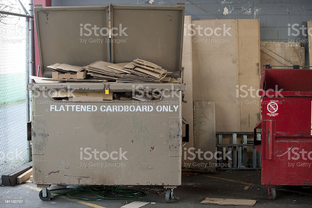Flattened Cardboard Only royalty-free stock photo