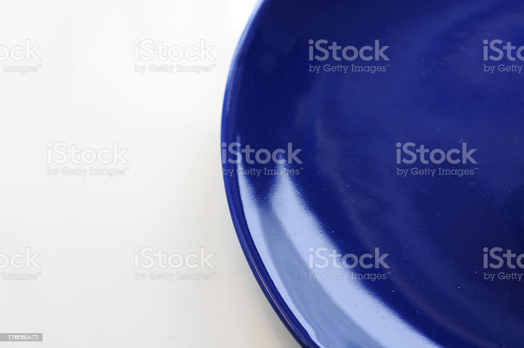 Plue plate royalty-free stock photo