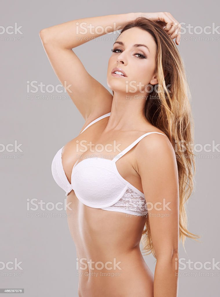 Flaunting her stunning body stock photo