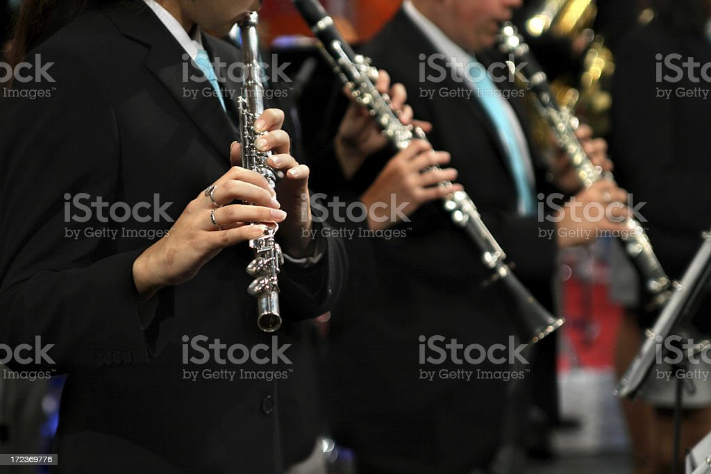 Flautists stock photo
