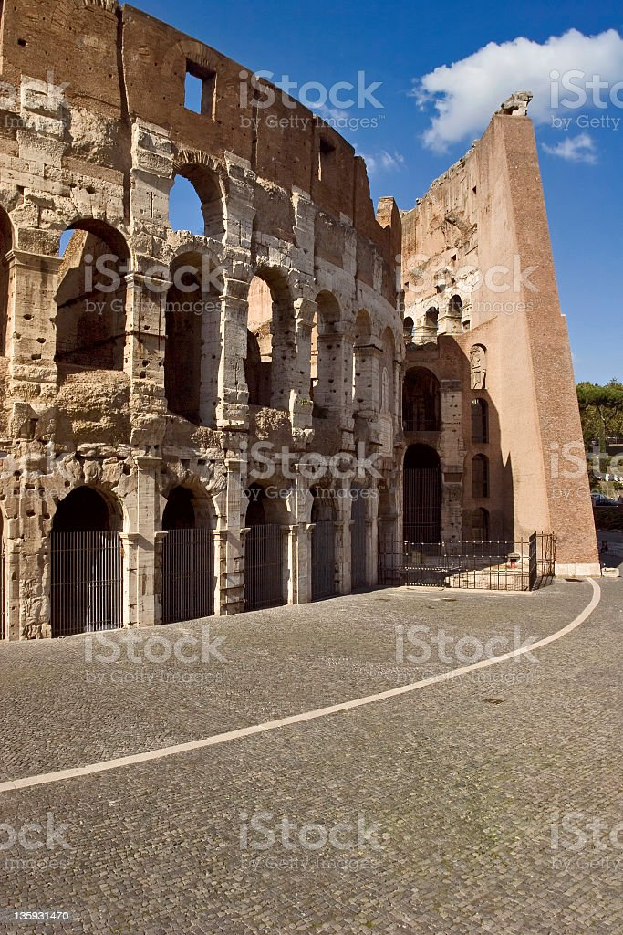 Flavian Amphitheater Coliseum of Rome, or Colosseo royalty-free stock photo