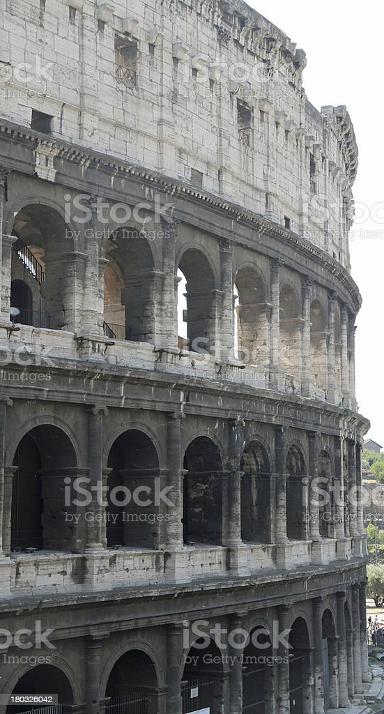 Flavian Amphitheatre Called the COLOSSEUM royalty-free stock photo