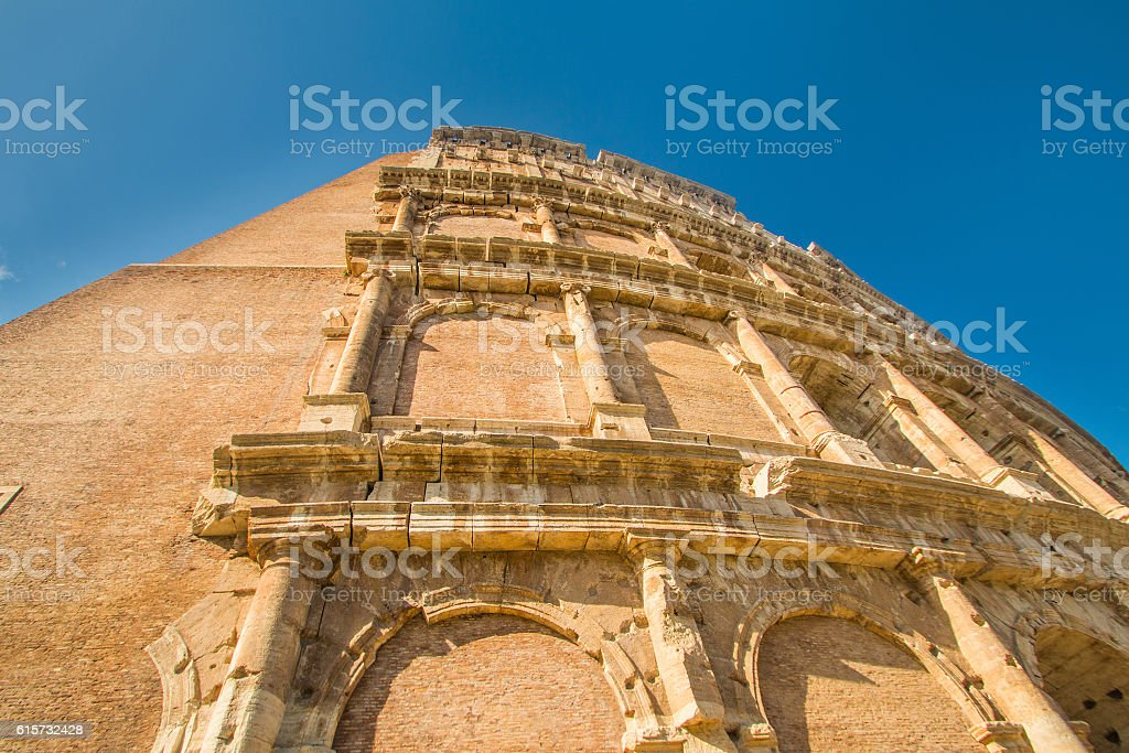 Flavian Amphitheatre Colosseum in Rome, Italy stock photo