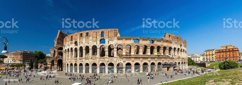 Flavian Amphitheatre (Colosseum) in Rome, Italy stock photo