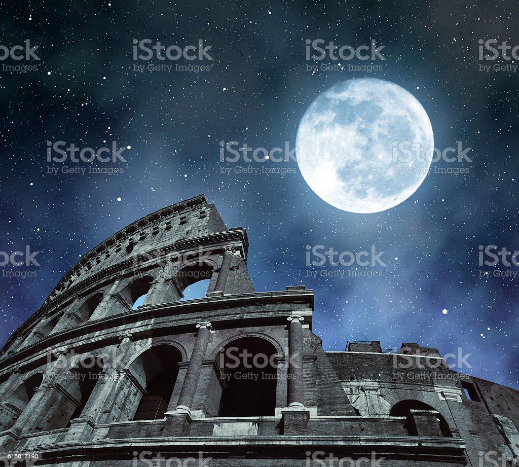 Flavian Amphitheatre or Colosseum in Rome stock photo