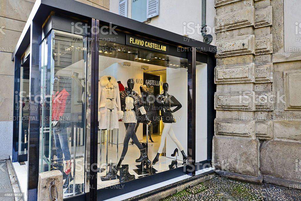 Flavio Castellani Clothing Store in Milan royalty-free stock photo