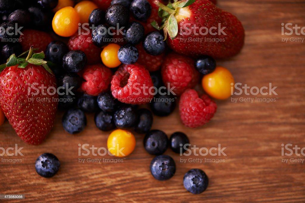 Flavorsome fruit mix stock photo