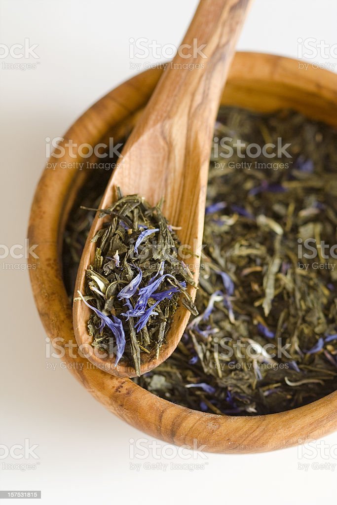 Flavoured Green Tea stock photo
