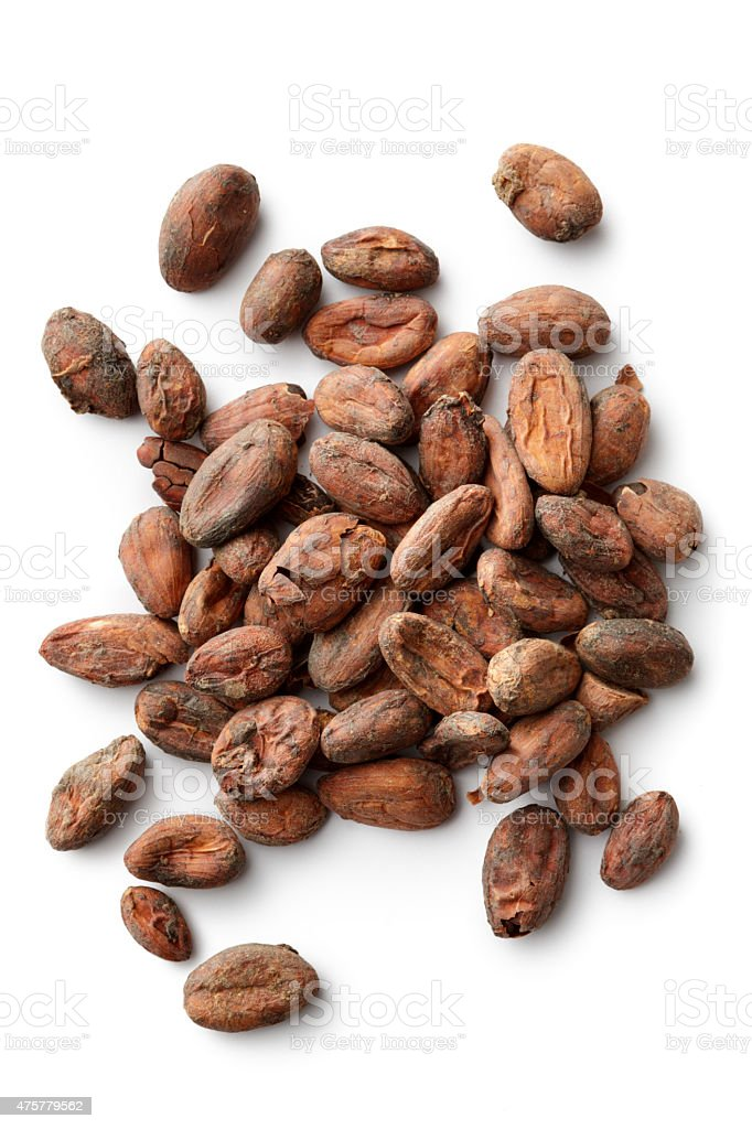 Flavouring: Cacao Beans stock photo
