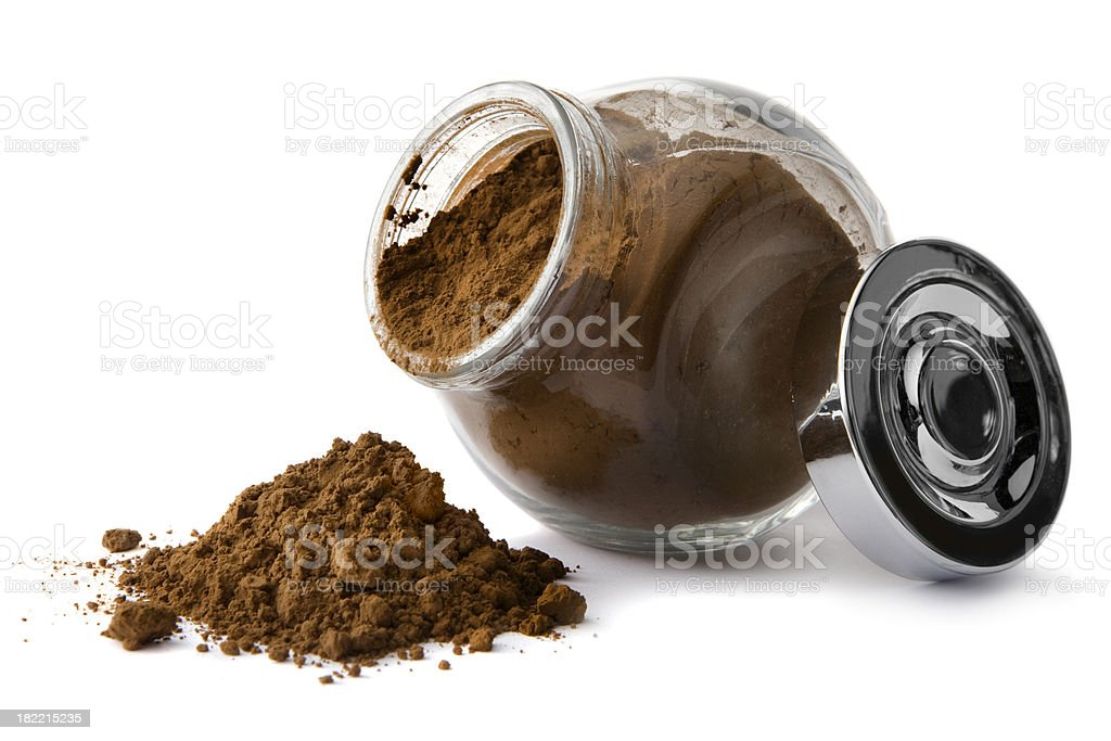Flavouring: Cacao Powder royalty-free stock photo