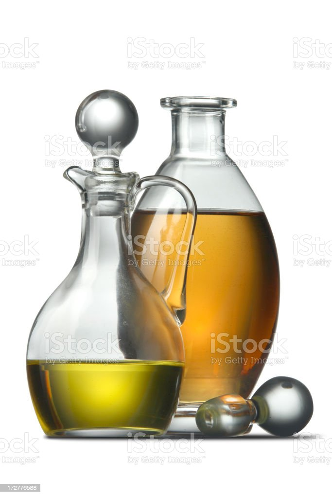 Flavouring: Oil and Vinegar stock photo