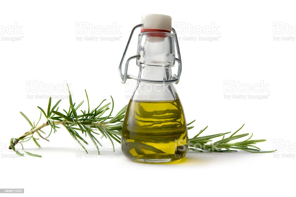 Flavouring: Olive Oil and Rosemary stock photo